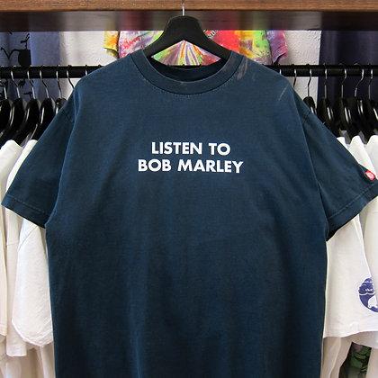 2000s Listen To Bob Marley Element Tee - L