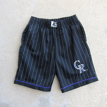 90s Colorado Rockies Starter Pinstriped Shorts - M