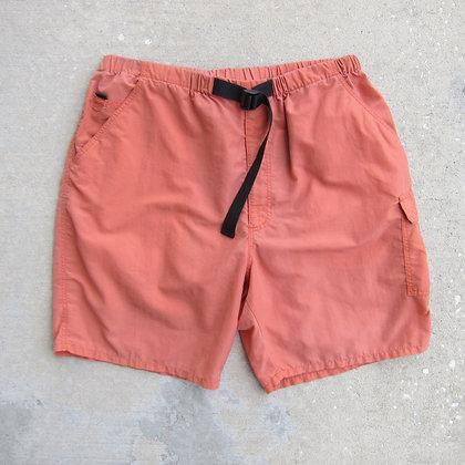 90s Burnt Orange Belted Nylon Water Shorts - L