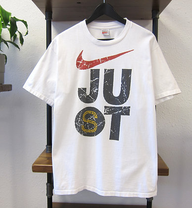 90s Nike White Double Sided Tee - L