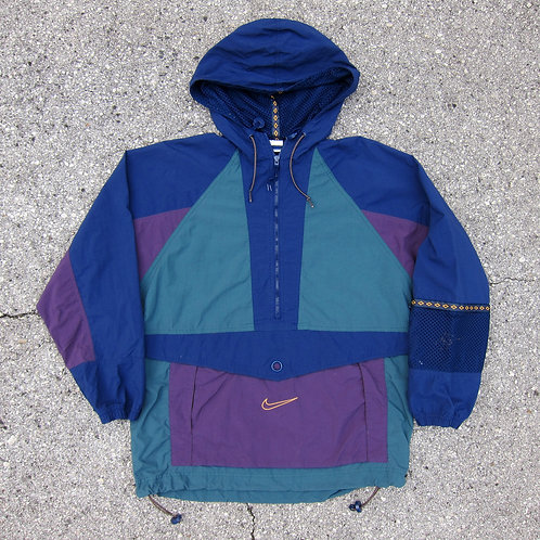 90s Nike Colorblock Anorak w/ Mesh Arm Pocket - S/M