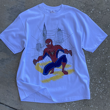 2000s B'Dazzled Spiderman Tee - XL