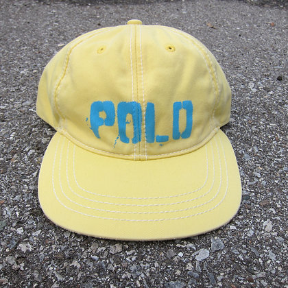 90s Polo RL Pale Yellow 6 Panel Hat