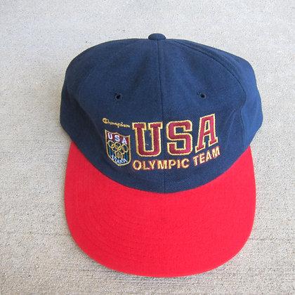 90s Champion USA Olympic Team 6 Panel Hat