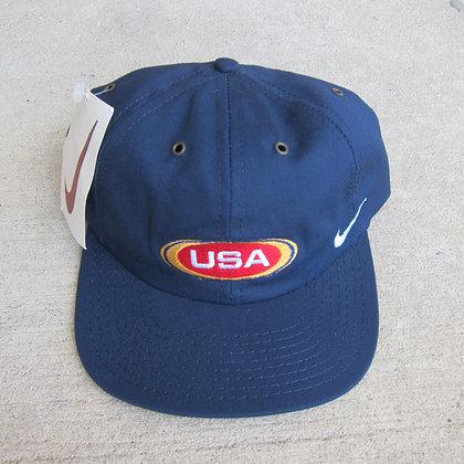 90s Nike USA Navy 6 Panel Hat