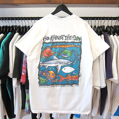 '92 Go Against The Flow Fish Tee - L/XL