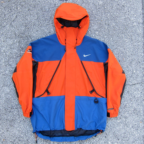 90s Nike Acg Orange & Royal Storm-Fit Mountain Jacket - L