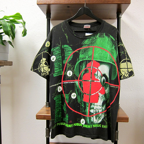 Early 90s Public Enemy All Over Print Tee - XL