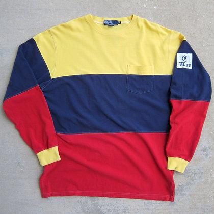 '93 Polo RL Wide Striped Long Sleeve Tee - XL