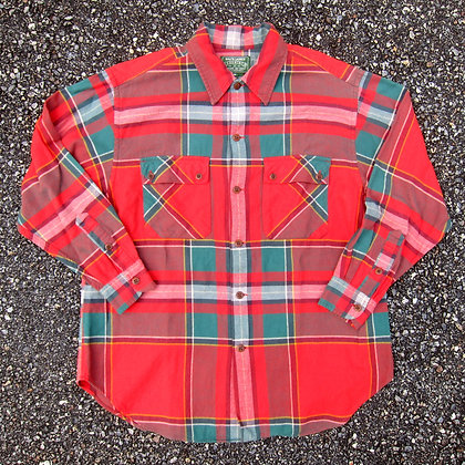 90s Polo RL Country Plaid Flannel Button Front Shirt - M/L