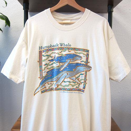 90s L.L. Bean Humpback Whale Art Tee - XL