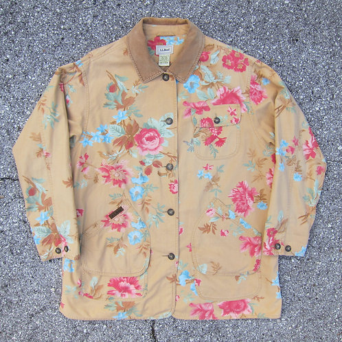 90s L.L. Bean Floral Barn Jacket - XL