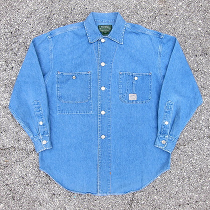 90s Polo RL Country Denim Button Front Shirt - M