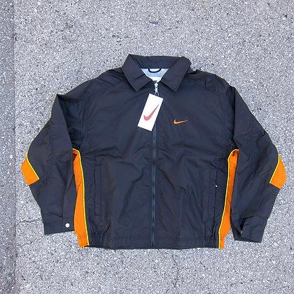 90s Nike Black & Orange Windbreaker - L
