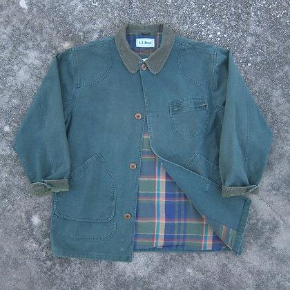 90s L.L. Bean Forest Green Chore Jacket - L/XL
