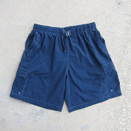 Columbia Sportswear Navy Belted Nylon Shorts - L