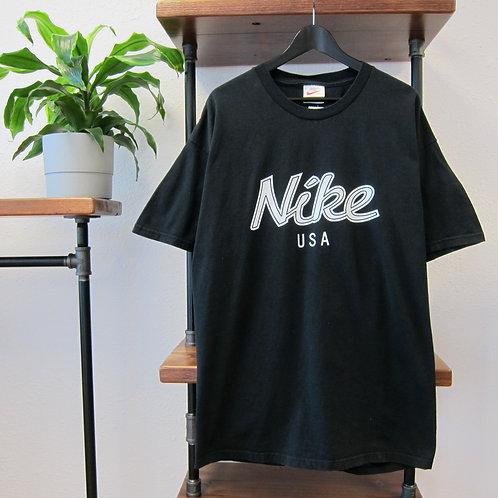 90s Nike USA Black Graphic Tee - XL