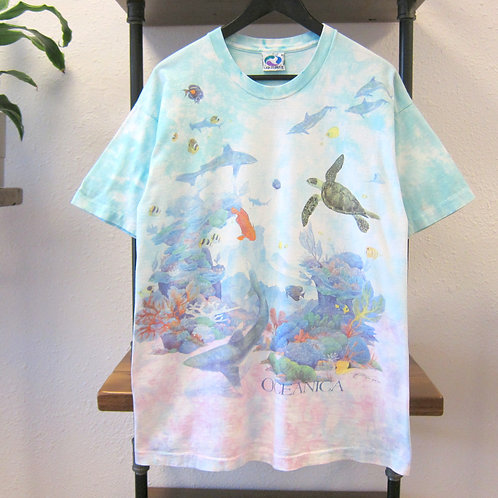 '93 Liquid Blue Oceanica All Over Print Tee - L