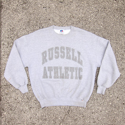 90s Russell Athletic Heather Grey Crewneck - XL