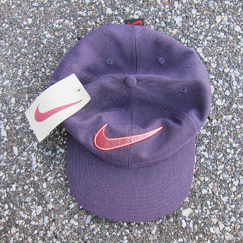 90s Nike Plum Denim 6 Panel Hat