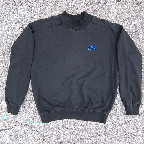 Late 80s Nike Black Cotton Sweatshirt - M/L