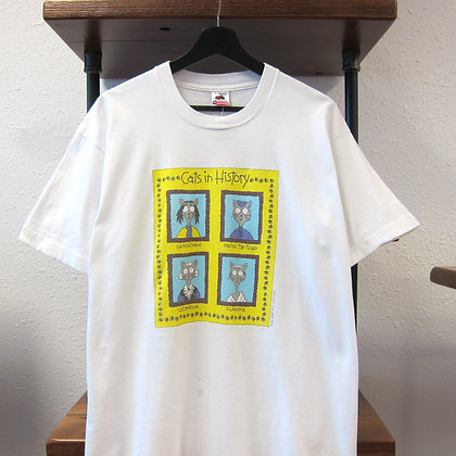 '91 Cats In History Art Tee - L