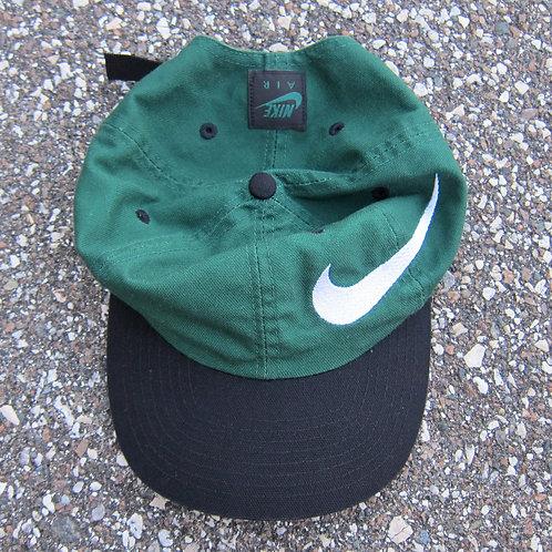 90s Nike Dark Green & Black Big Swoosh Hat