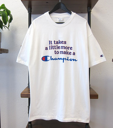 "90s Champion ""It Takes A Little More"" Graphic Tee - XL"