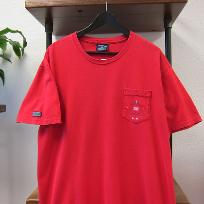 90s Polo Sport Red Marine System Tee - XL