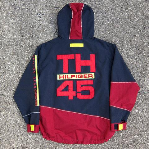 nye stilarter salg at købe 90s Tommy Hilfiger Sailing Gear Anorak Jacket - L