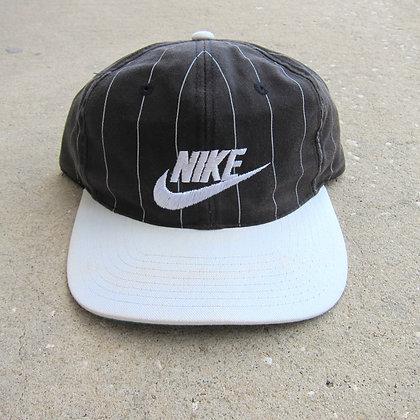 Early 90s Nike Black Pinstriped Snapback