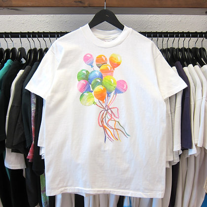90's Colorful Balloon Art Tee - M/L