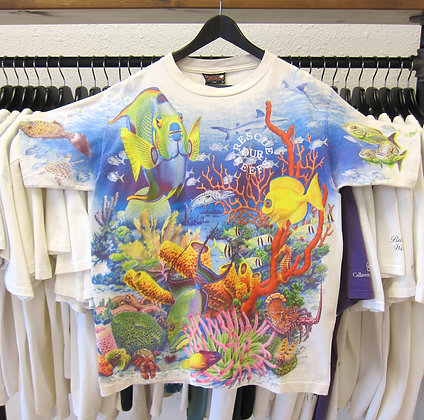 90's Rescue Our Reefs All Over Print Tee - L
