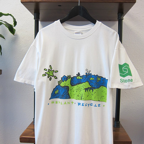 90s Replant and Recycle Double Sided Tee - L