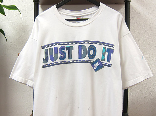 *Thrashed* '92 Nike Urban Jungle Just Do It White Tee - XL