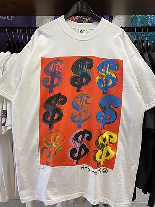 '96 Andy Warhol Dollar Sign Art Tee - XL