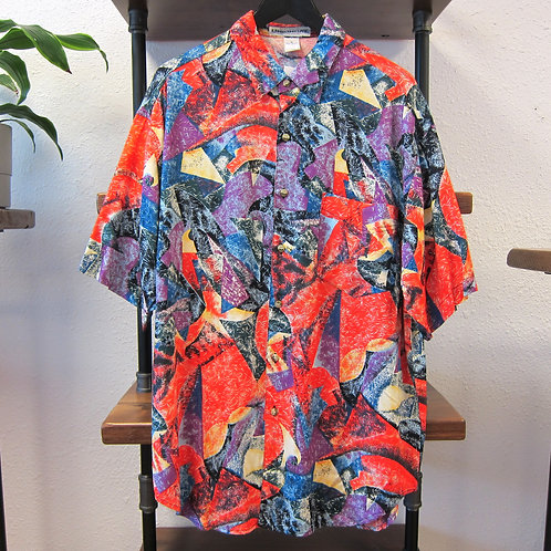 90s Unionbay Oversized Abstract Rayon Shirt - L/XL