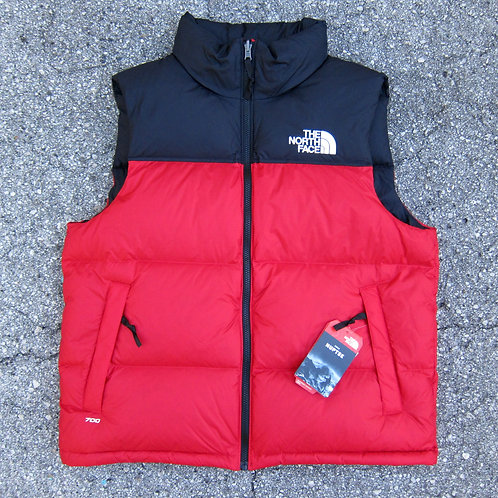 Retro '96 The North Face Red 700 Fill Nuptse Vest - L