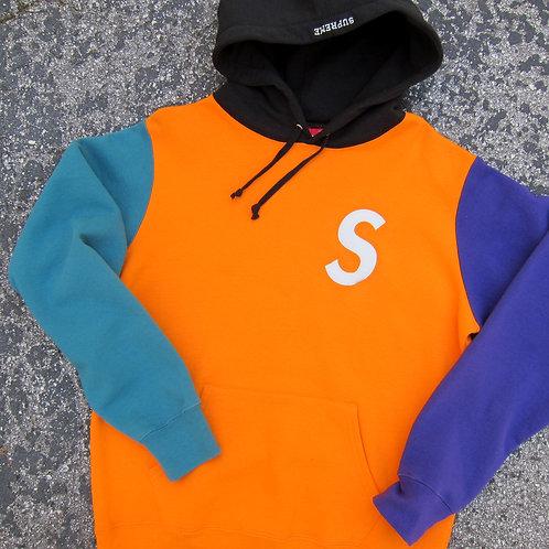 Supreme Colorblock S Logo Hoodie - M