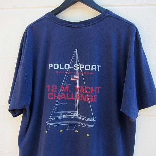 1996 Polo Sport Navy 12m Yacht Challenge Tee - XL
