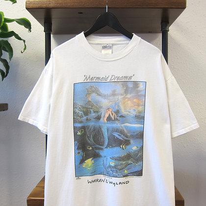 90's Mermaid Dreams Art Tee - XL