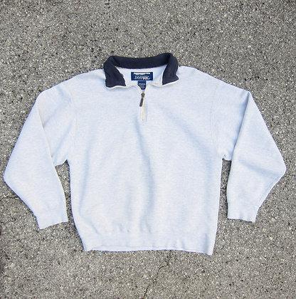 90s L.L. Bean x Russell Athletic 1/4 Zip Sweatshirt - M