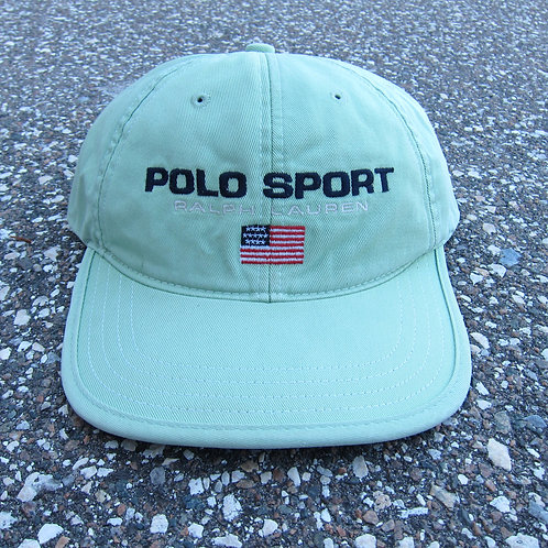 90s Polo Sport Mint Green 6 Panel Hat