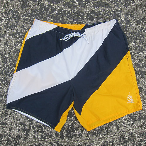 90s Nautica Navy & Gold Water Shorts - XL
