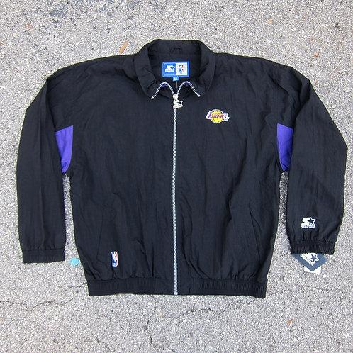 90s Los Angeles Lakers Starter Windbreaker Jacket - XXL