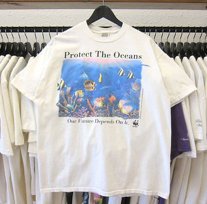 90's Protect Our Ocean And Reef Tee - L