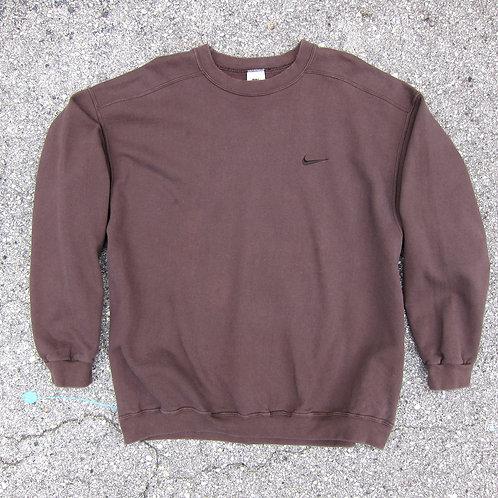 90s Nike Brownish Tonal Cotton Sweatshirt - XL