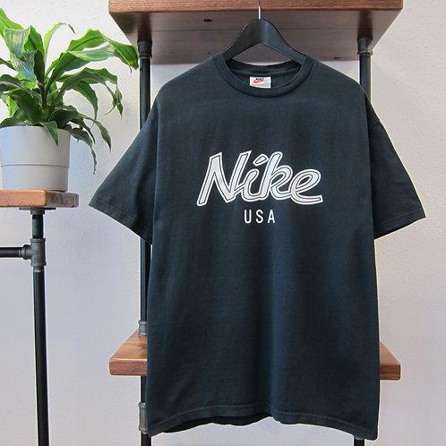 90s Nike USA Black Graphic Tee - M/L