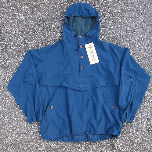 90s Columbia Sportswear Blue Nylon Anorak - L