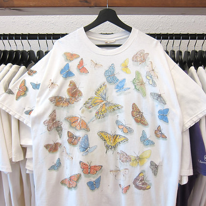 90's Butterfly Species All Over Art Tee - XL